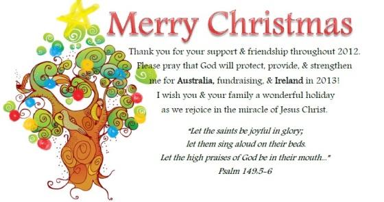 Christmas 2012 letter