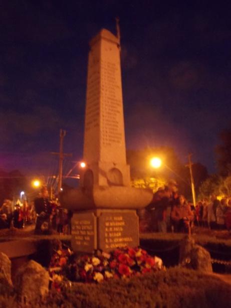 Anzac memorial, Croydon, Anzac Day dawn service 2013