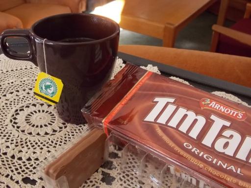 Black tea and a Tim Tam.