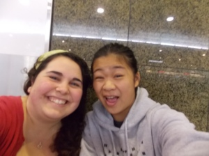 Kiana & I at the airport in Melbourne.