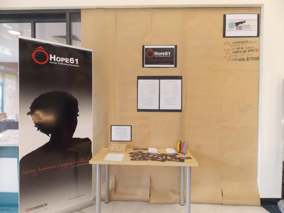 HOPE61 display at the Unshackled festival!