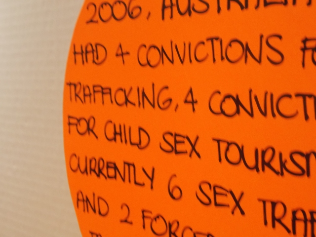 Sign at the Unshackled festival.