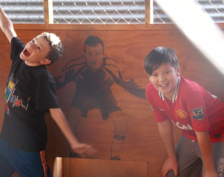 Missionary kids Nico & Kia enoying some soccer.
