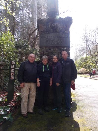 Warren, Velma, Karim, John at Alfred Nicholas Memorial Garden