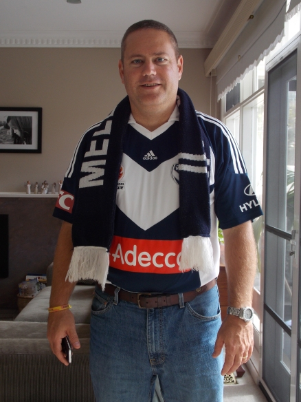 Tom went to a Melbourne Victory game with the Bongers.