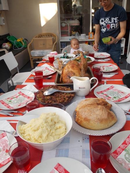 Baby's first Thanksgiving! (Josie & Ian's niece)