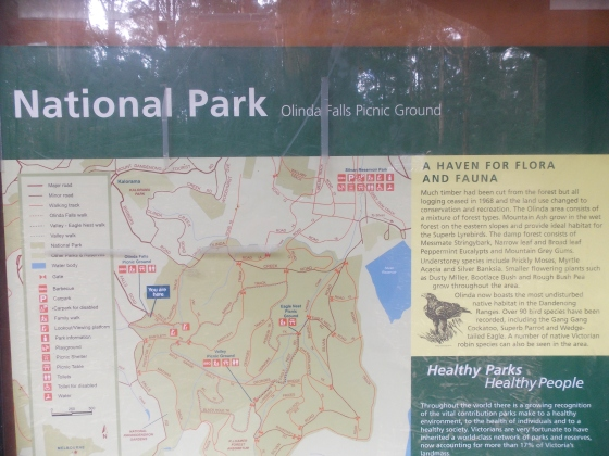 Olinda Falls and national park