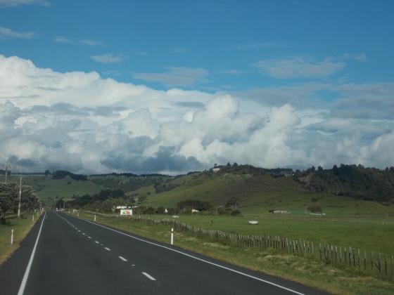 Returning to Waikato from Taranacki, New Zealand.