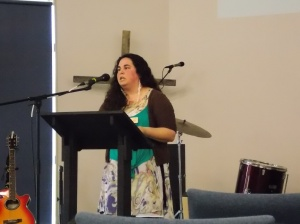 Sharing at EastWest college in Hamilton, NZ.