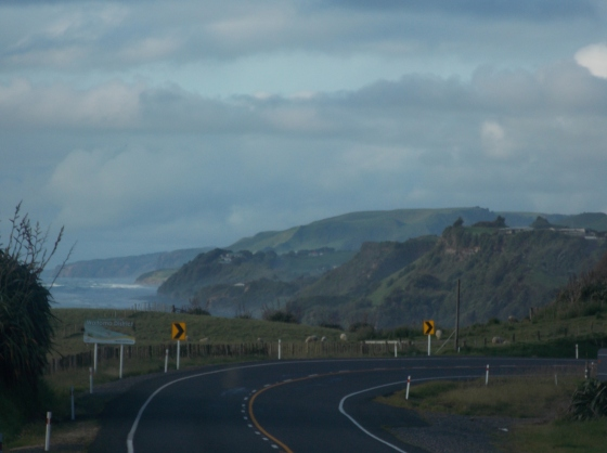 Always a bend in the road.  New Plymouth, New Zealand