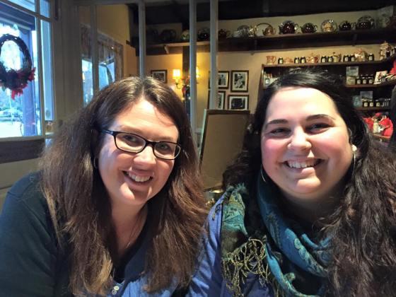 Tanya and I.