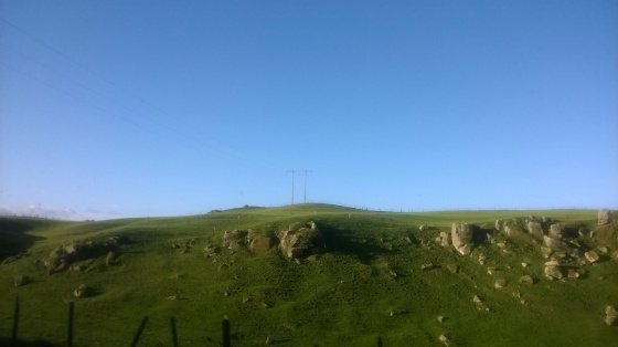 Hills that also work as rock fields. New Zealand.