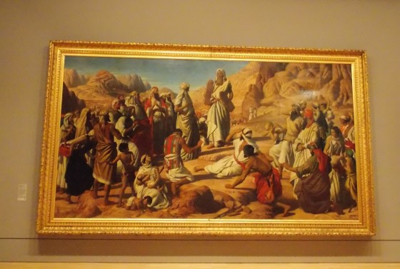"""Moses Handing Down the Tables of the Law,"" John Rogers Herbert. National Gallery of Victoria, Melbourne, Australia."