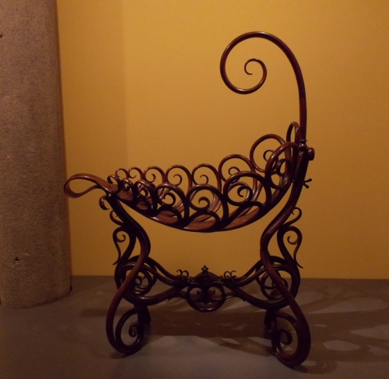 The best baby cradle I've ever seen. National Gallery of Victoria, Melbourne, Australia.